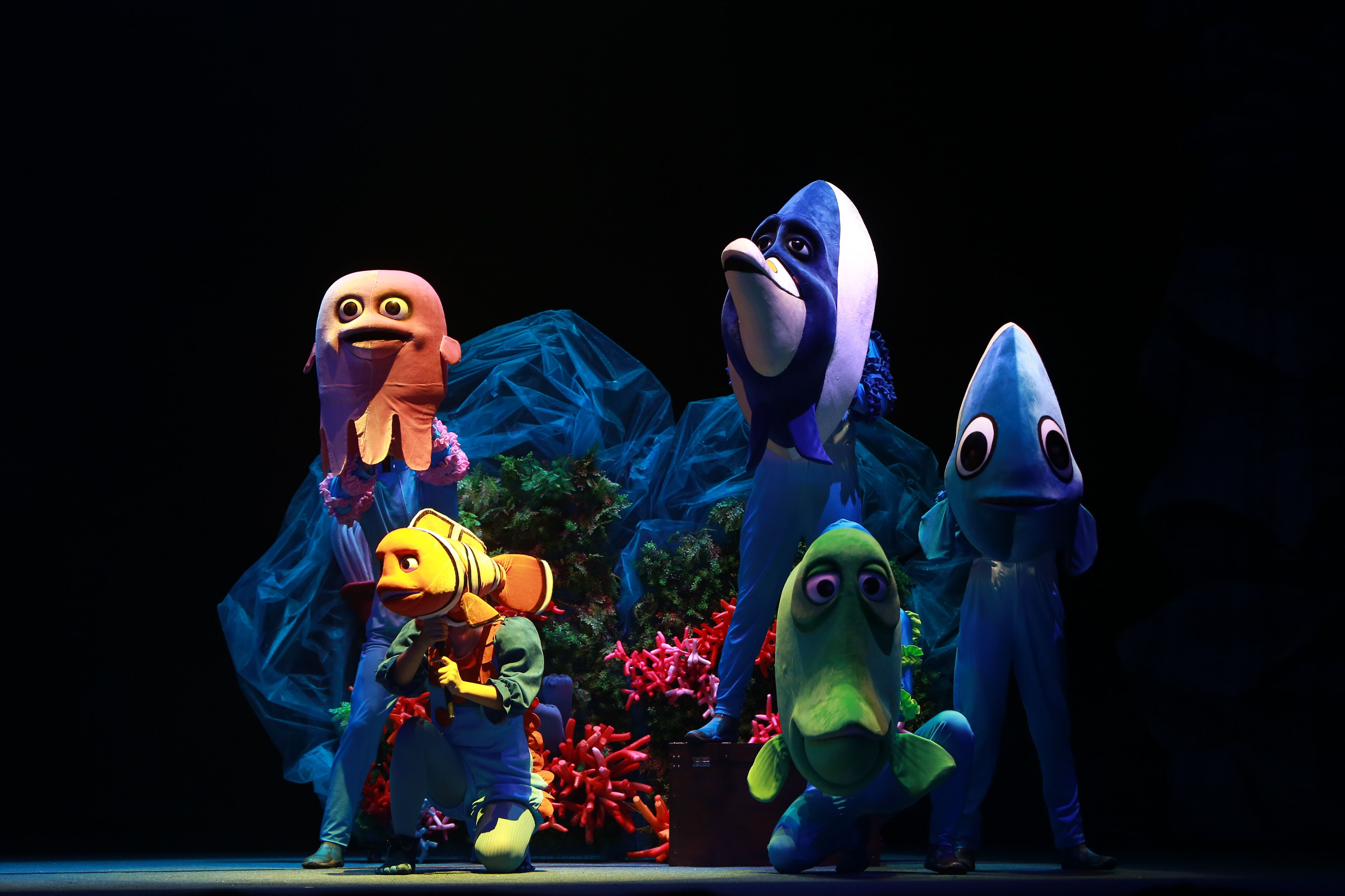 《深海总动员》将亮相中国儿童剧场,该剧表现形式采用纯粹的音乐剧